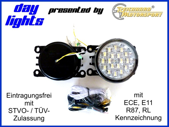 led tagfahrlicht tagfahrleuchten suzuki swift mz ez 08 ebay. Black Bedroom Furniture Sets. Home Design Ideas